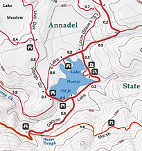360Maps - Shaded-Relief, Topo Maps of California State Parks